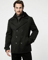 Le Château Textured Wool Twill Peacoat