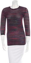 M Missoni Open Knit Striped Top