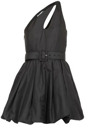 Self-Portrait Asymmetric Taffeta Mini Dress