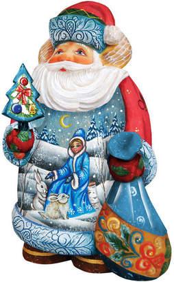 G. Debrekht Artistic Studios Hand Painted Snow Maiden Scene Santa Figurine