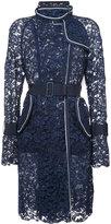 Sacai lace trench coat - women - Cotton/Nylon/Rayon - 1