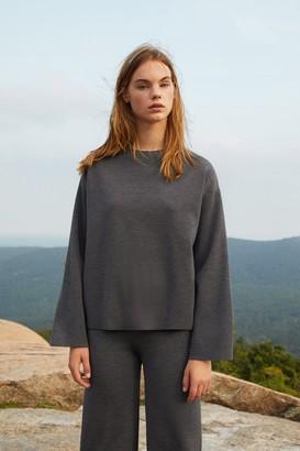 Mansur Gavriel Wool Milano Long Sleeve Sweater - Grey