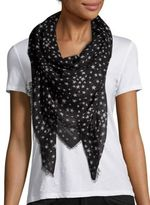 Saint Laurent Star-Print Cashmere & Silk Scarf