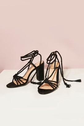 Wallis Black Beaded Heeled Sandal