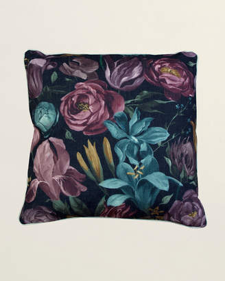Thro Embroidered Floral Pillow