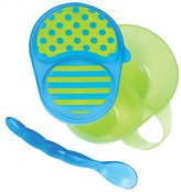Sassy First Solids Bowl & Spoon - Blue/Green