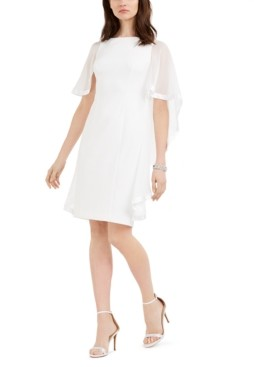 Jessica Howard Petite Chiffon Cape Dress
