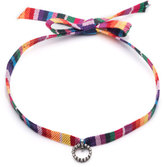Dannijo Accessories Verena Striped Choker Necklace w/Crystal Charm