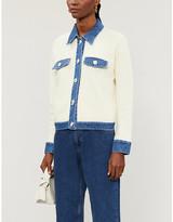 Sandro Nino contrasting-trim cotton cardigan
