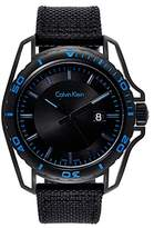 Calvin Klein Men's 'Earth' Swiss Quartz Stainless Steel and Leather Watch, Color:Black (Model: K5Y31YB1)