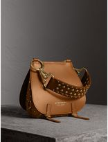 Burberry The Bridle Bag in Leather and Rivets, Brown