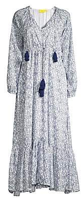Roller Rabbit Women's Royal Denmark Olaya Printed Cotton Peasant Dress