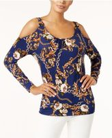 Thalia Sodi Cold-Shoulder Blouse, Created for Macy's