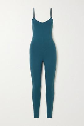 Live The Process Corset Stretch-supplex Bodysuit - Petrol