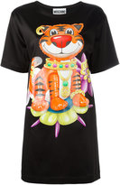 Moschino bejewelled tiger T-shirt dress - women - Acetate/Rayon/other fibers - 40