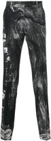 Alexander McQueen printed straight-leg trousers - men - Polyamide/Acetate/Viscose/Wool - 46