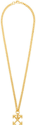 Off-White Off White Gold Arrows Necklace
