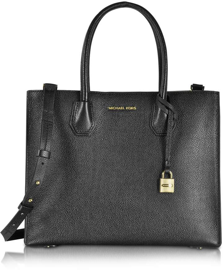 Michael Kors Mercer Large Convertible Bonded-Leather Tote