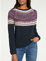 Lee Long Sleeve Fair Isle Crew Neck Jumper