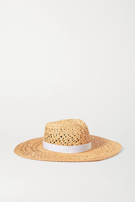 Rag & Bone Grosgrain-trimmed Straw Hat - Beige