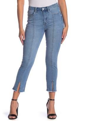 Kensie Sky High Vintage Slim Fit Slit Cuff Jeans