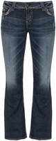 Silver Jeans Plus Size Suki embroidered bootcut jeans