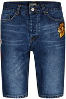 Antioch Mid Wash Slim Fit Denim Shorts*