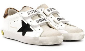 Golden Goose Kids Star Embroidered Leopard Print Detail Sneakers