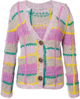 Natasha Zinko checked cardigan - women - Wool/Alpaca - S