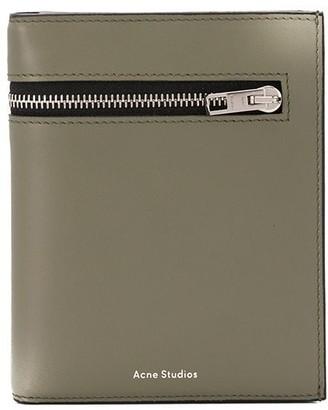 Acne Studios Zipped Detail Tri-Fold Wallet