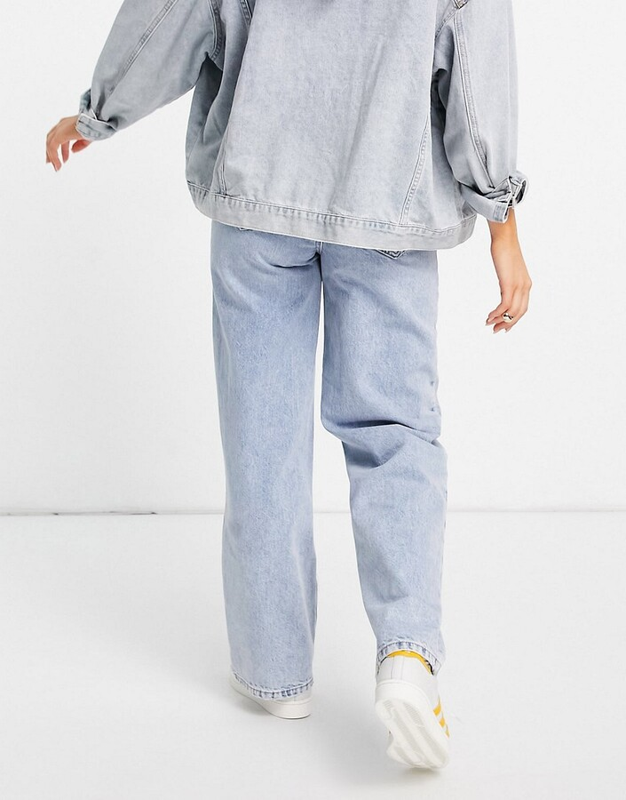 Thumbnail for your product : New Look baggy fit jeans in blue