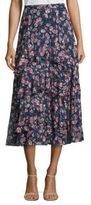 Rebecca Taylor Tea Rose Ruffled Silk Skirt