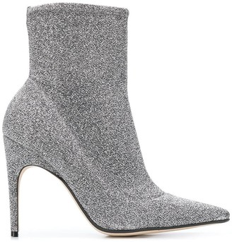 Sergio Rossi Pointed Glitter Boots