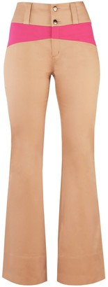 BEIGE Rejoice Flared Sustainable Trousers