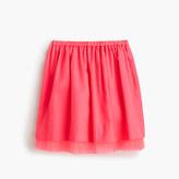 J.Crew Girls' pull-on skirt with tulle hem