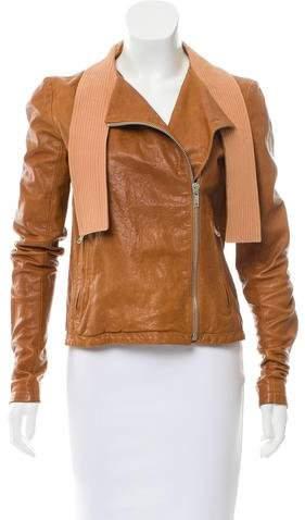 Damir Doma Leather Asymmetrical Jacket