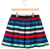 Milly Minis Girls' Pleated Striped Skirt w/ Tags