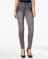 Style&Co. Style & Co. Embroidered Dark Shadow Wash Skinny Jeans, Only at Macy's