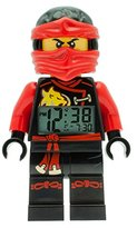 LEGO Ninjago Sky Pirates Kai Kids Minifigure Light Up Alarm Clock | red/black | plastic | 9.5 inches tall | LCD display | boy girl | official