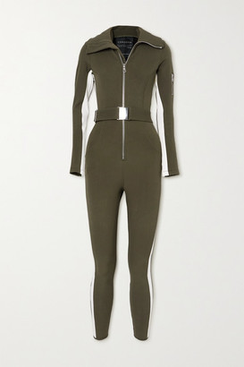 Cordova Signature In The Boot Belted Striped Ski Suit - Army green