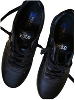 Polo Ralph Lauren Black Leather Trainers