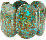 Devon Leigh Compressed Turquoise Stretch Bracelet