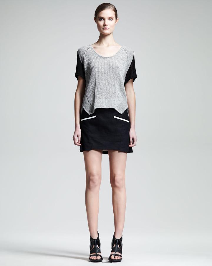Helmut Lang Era Contrast-Pocket Miniskirt