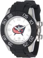 Game Time Men's NHL-BEA-CBJ Beast Round Analog Watch