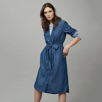 The White Company Indigo Tencel Dress, Indigo, 6