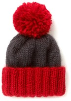 Two Tone Wool Bobble Hat