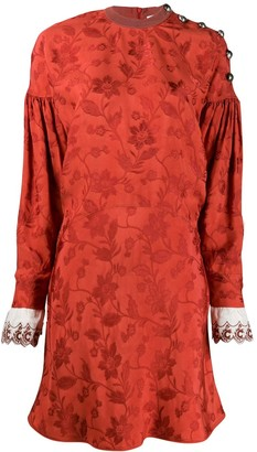 Chloé buttoned jacquard dress
