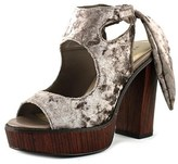Very Volatile Kimbra Open Toe Canvas Platform Heel.