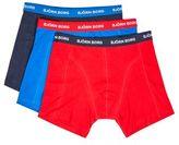 Burton Mens Bjorn Borg 3 Pack Red, Blue And Black Trunks *