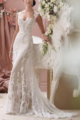 David Tutera For Mon Cheri Lace Wedding Gown